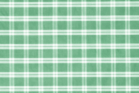 gingham: Green gingham fabric close up Stock Photo