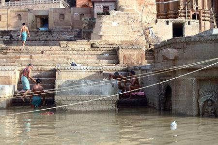 Some man takes bath   Ganges River