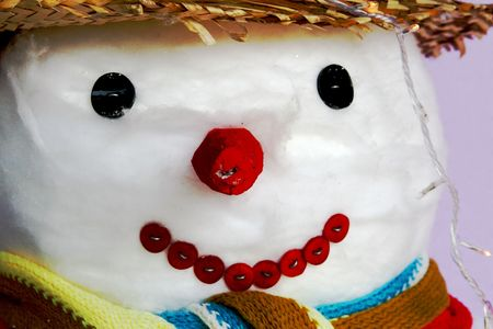 Well dressed snowman Stock Photo - 2282377