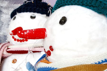 Well dressed snowman Stock Photo - 2282376