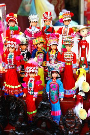 puppet show: Vietnamese puppets and toys - Hanoi - Vietnam.
