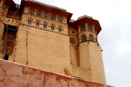 fortification: Jaipur Fortification in northern part of india