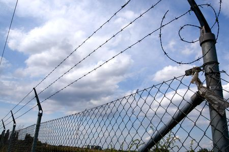 Lines of barbed wire Stock Photo - 3301731