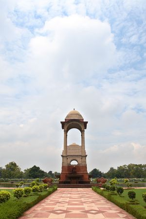 India Gate, a war memorial, New Delhi. photo