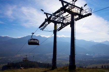 chairlift: chair-lift in Tatra Mountains