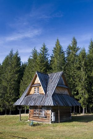 oscypek: Old traditional house in Zakopane