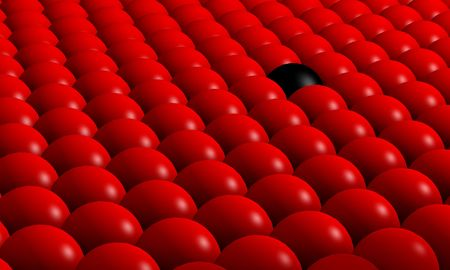 red sphere: 3D image of balls Stock Photo