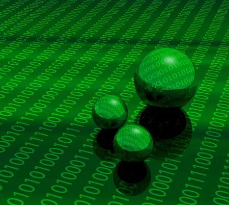 3D matrix balls Stock Photo - 7367002
