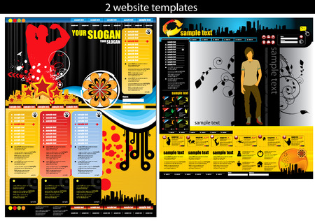 rollover: 2 website templates easy editable Illustration
