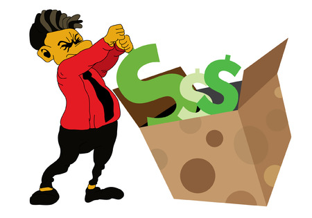 debt collection: Businessman Illustration