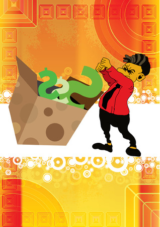 debt collection: Businessman vector