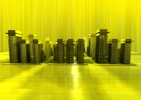 terraced: 3D image of city