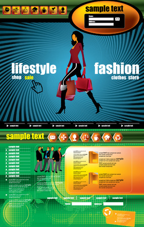 Web site design template.  Vector