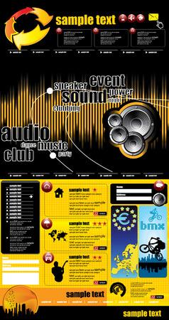 Web site design template.  Stock Vector - 8556456