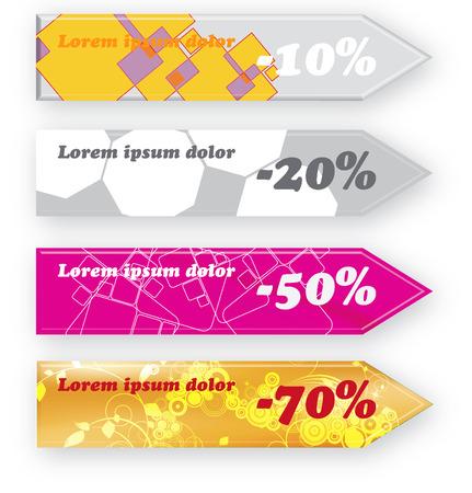 Discount banners Stock Vector - 8556473