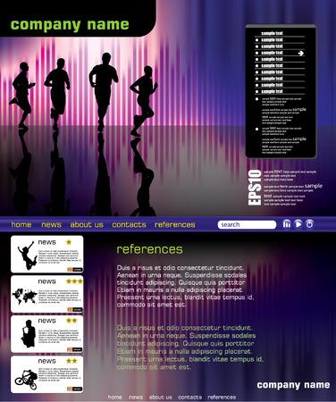 Web site design template Stock Vector - 8708302