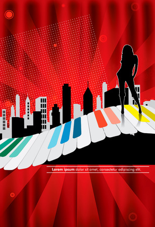 Vector illustration of musical background  Vector