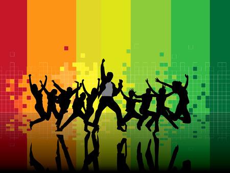 musique dance: Background music