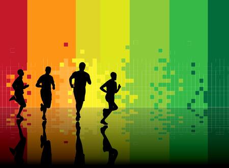 salud y deporte: Ilustraci�n vectorial de deporte