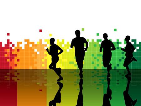 atleta corriendo: Ilustraci�n vectorial de deporte
