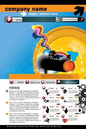 Website design template, Vector.  Stock Vector - 8813231