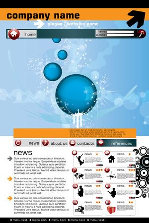 Website design template, Vector.  Stock Vector - 8813228
