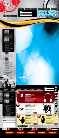 Website design template, Vector. Stock Vector - 8813343