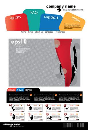 Website design template, vector.  Stock Vector - 8863080