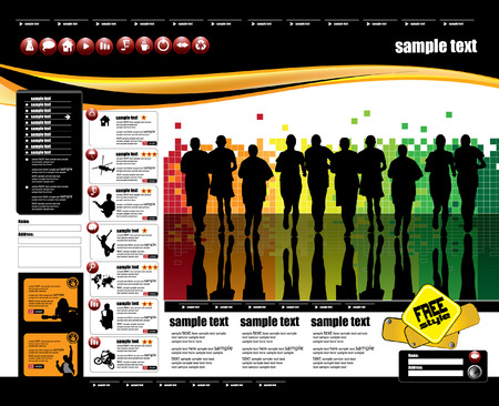Web site design template, vector.  Stock Vector - 8863090
