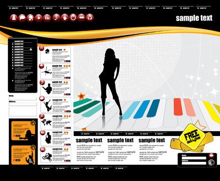 Web site design template, vector.  Vector