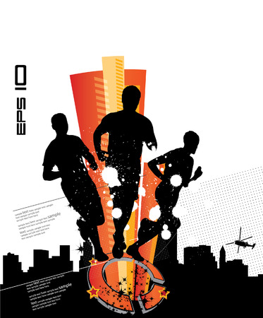 Sport event poster.