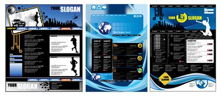 site web: Modello di pagina del sito Web Vettoriali