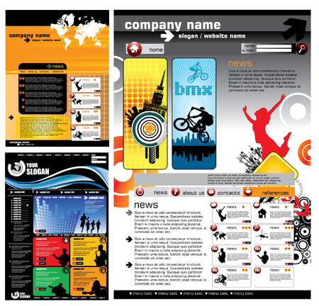 Web Site Page Template Stock Vector - 9975575