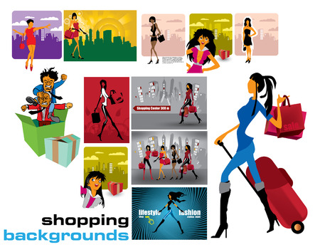 sincere: shopping backgrounds