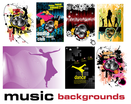 music event backgrounds Stock Vector - 9017497