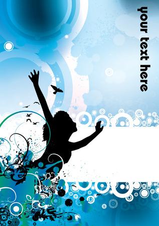 Colour grunge poster Illustration