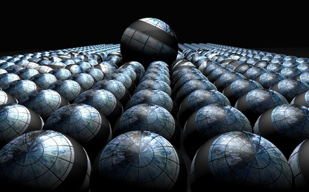 best leadership: Abstract background with 3d balls Stock Photo