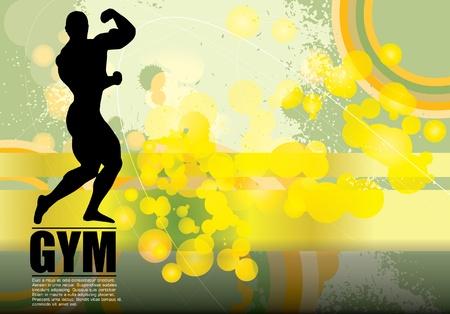 Bodybuilding. Vector