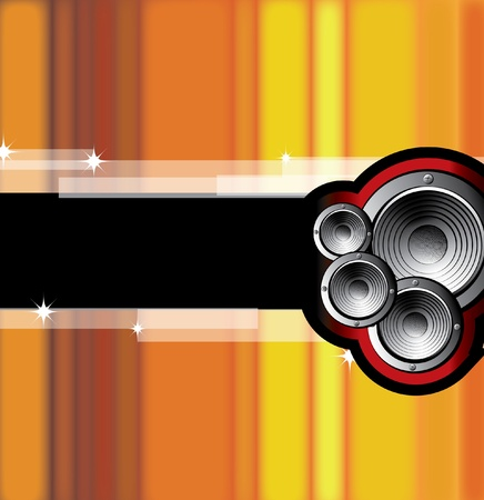 speakers: A vector illustration of a music Vettoriali