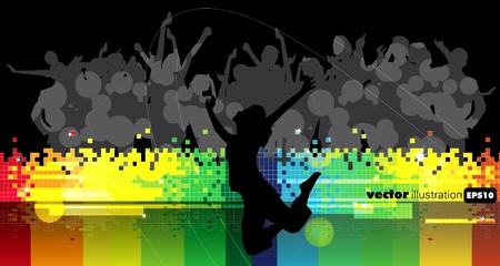 Abstract event music background  Stock Vector - 9191860