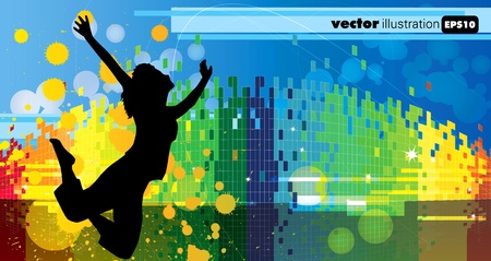 Abstract event music background  Vector