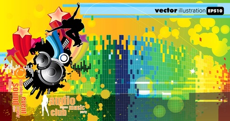 graphic equalizer: Abstract event music background  Illustration