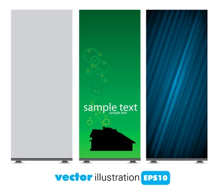 roll up: Roll up display with banner template  Illustration