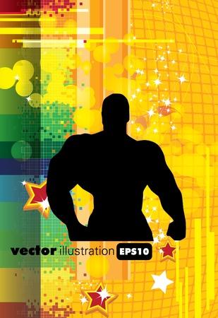 Bodybuilding. illustration  Vector