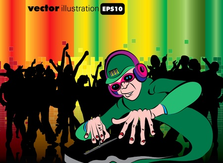 EPS10 Party people. Vector background Stock Vector - 9374412