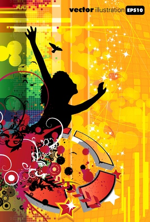 EPS10 Abstract music cover  Vector