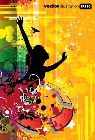 abstract music: EPS10 abstracte muziek dekking  Stock Illustratie