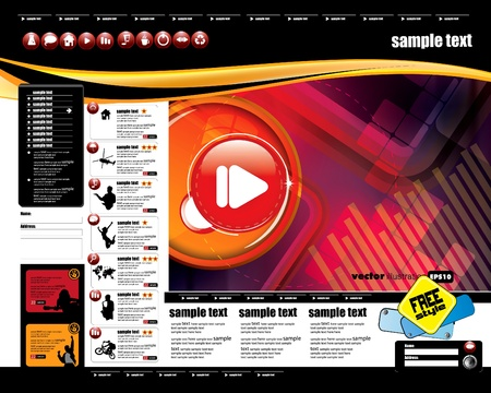 web portal: Website template with music even subject