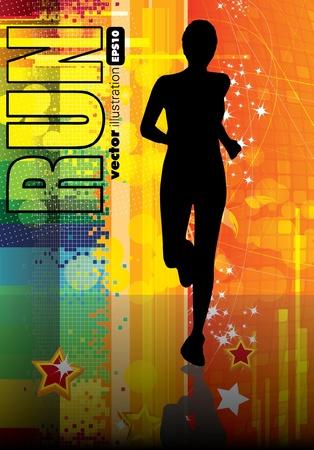 atleta corriendo: Ilustraci�n de deporte