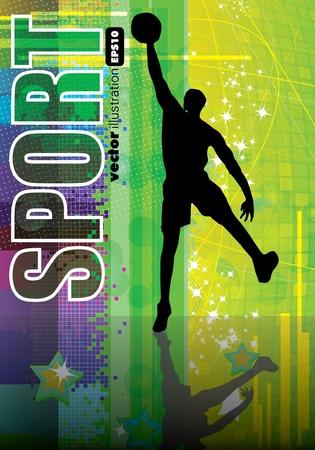 basketball player Stock Vector - 9374486